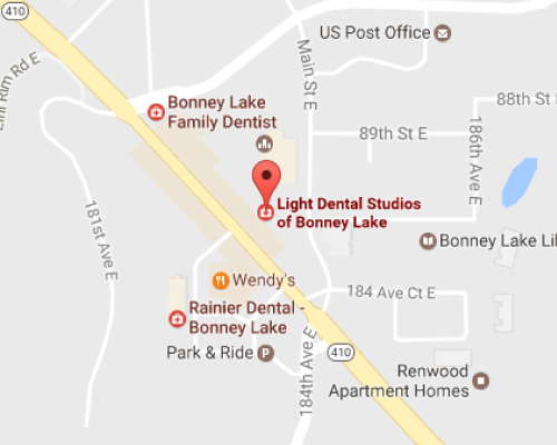 Bonney Lake Dentist Map
