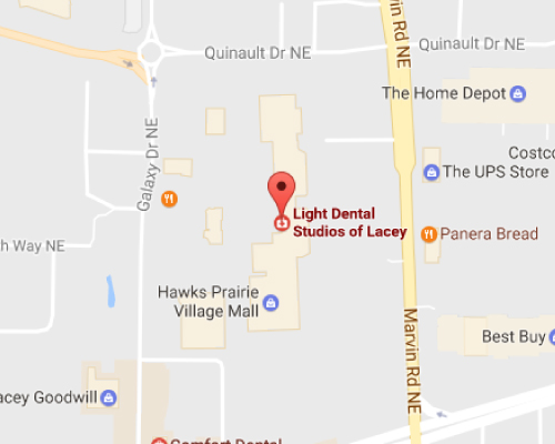 Lacey Dentist Map