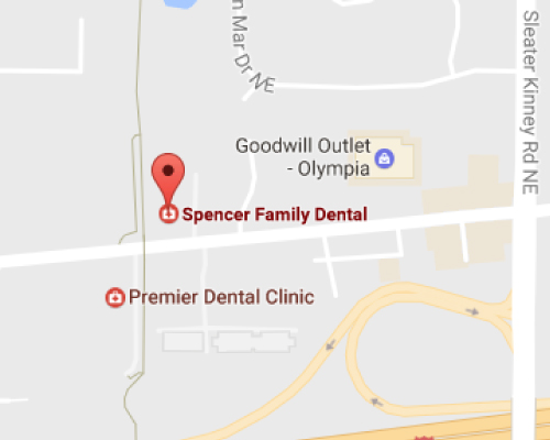 Olympia Dentist Map