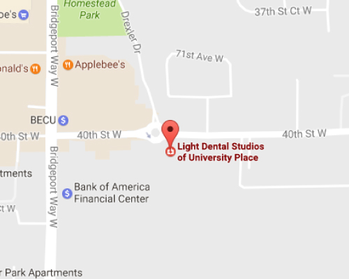 University Place Dentist Map