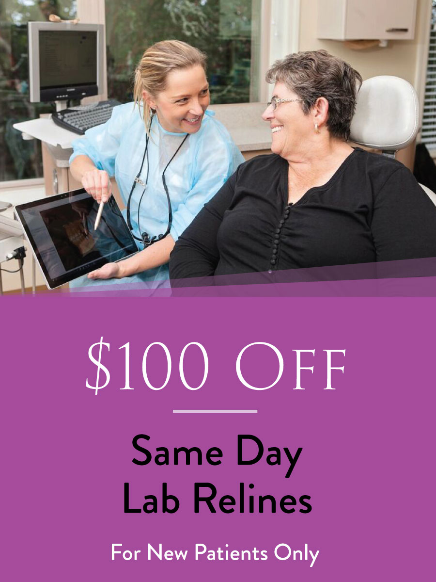 $100 Off Same Day Lab Relines