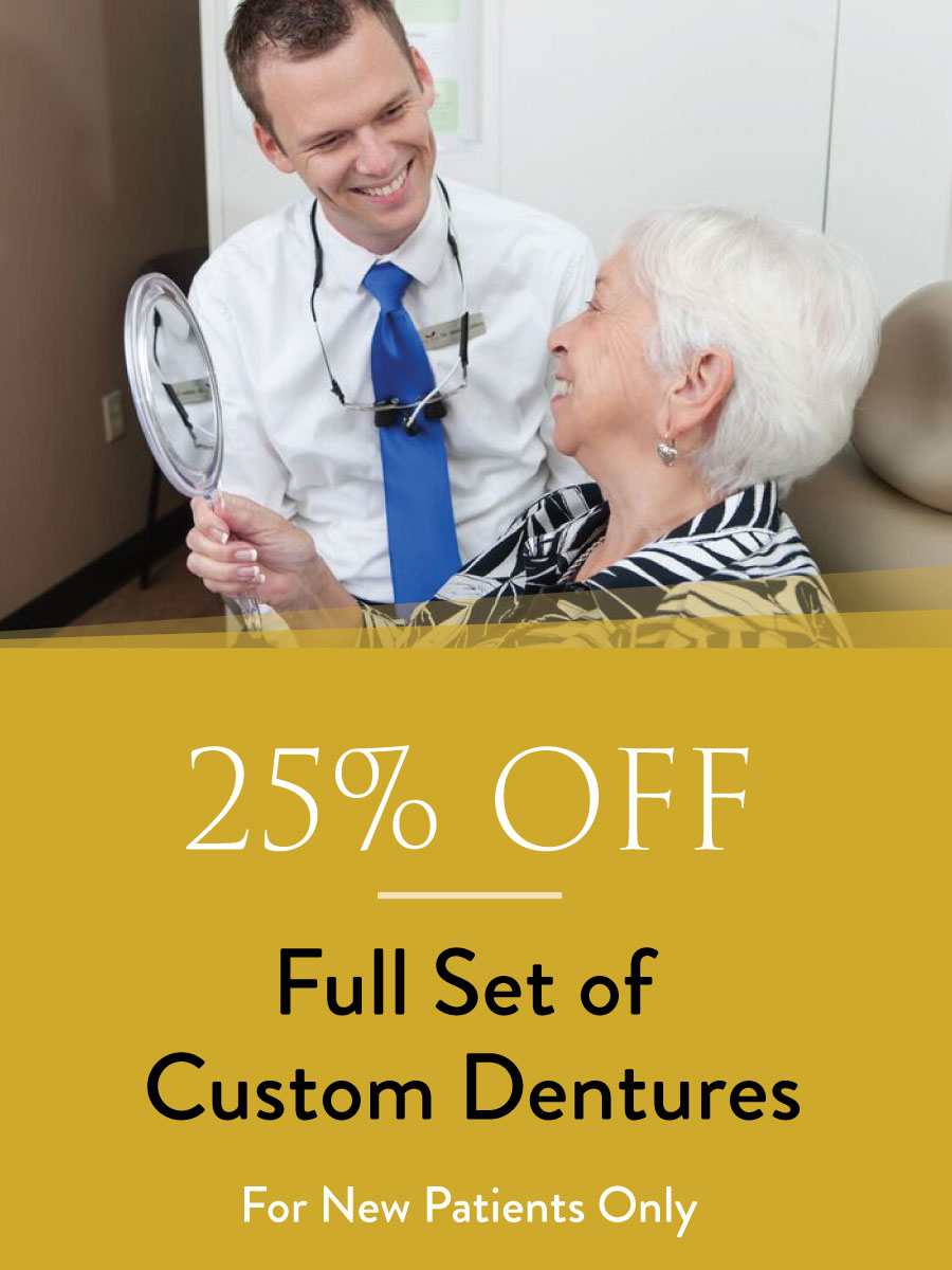 25% off custom dentures